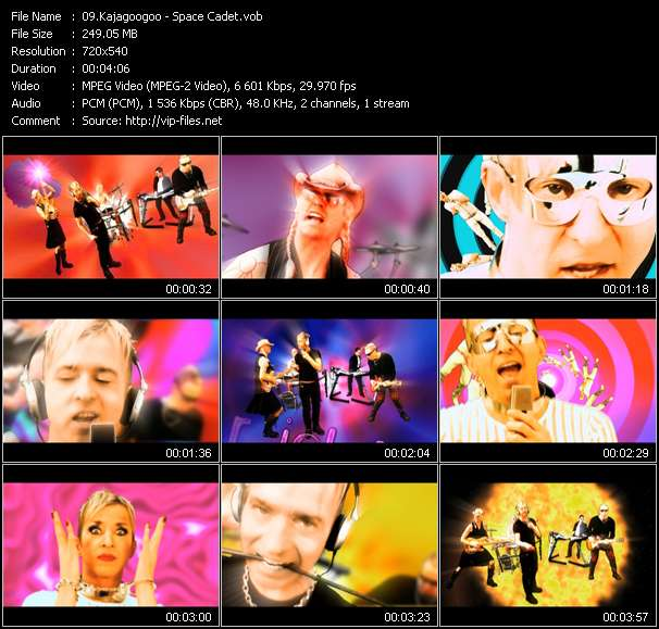 Screenshot of Music Video Kajagoogoo - Space Cadet