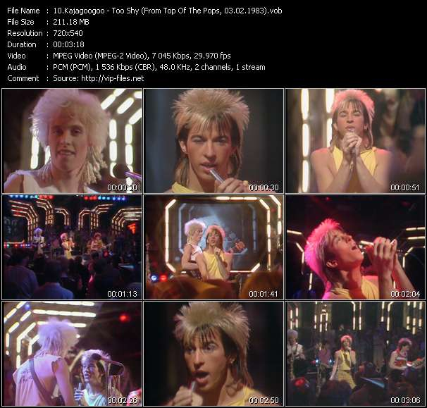 Screenshot of Music Video Kajagoogoo - Too Shy (From Top Of The Pops, 03.02.1983)