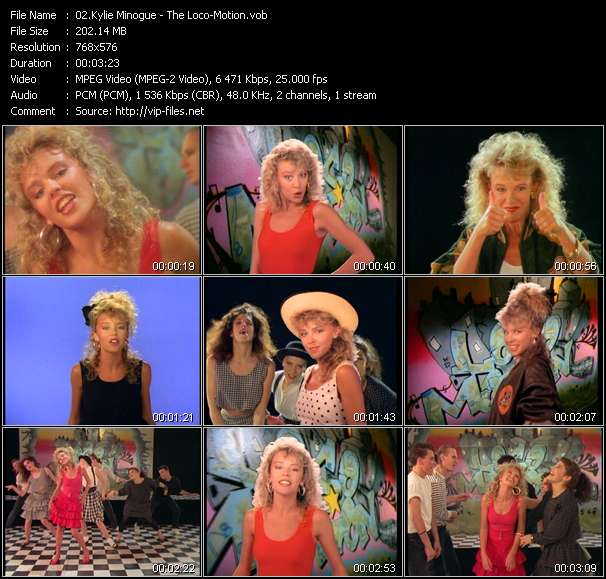Screenshot of Music Video Kylie Minogue - The Loco-Motion