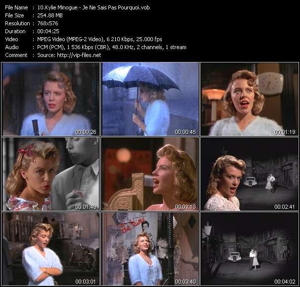 Screenshot of Music Video Kylie Minogue - Je Ne Sais Pas Pourquoi