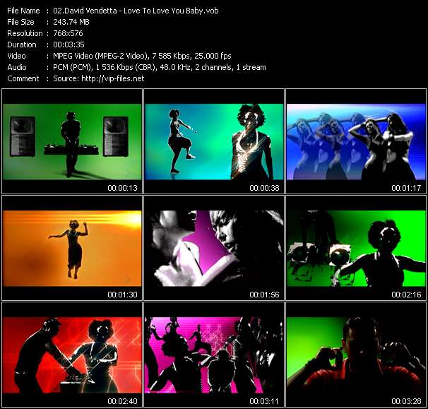 Screenshot of Music Video David Vendetta - Love To Love You Baby