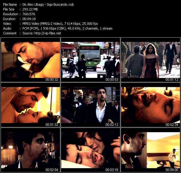 Screenshot of Music Video Alex Ubago - Sigo Buscando