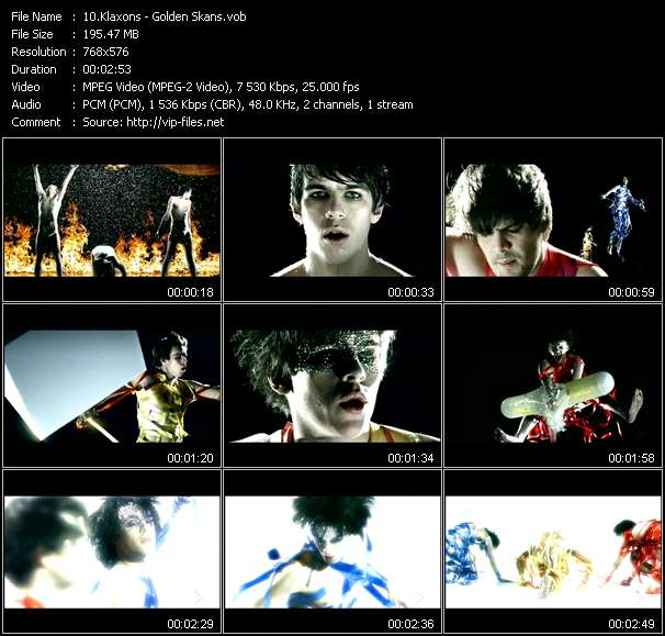 Screenshot of Music Video Klaxons - Golden Skans