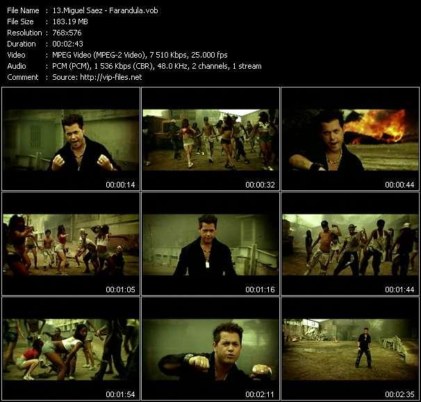 Screenshot of Music Video Miguel Saez - Farandula