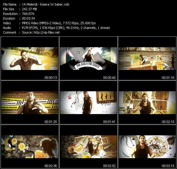 Screenshot of Music Video Melendi - Kisiera Yo Saber