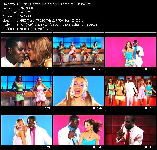 Screenshot of Music Video Mr. Skillz And His Crazy Girls - I Know You Like Me