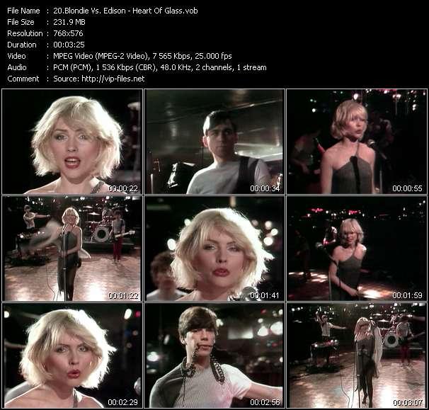 Screenshot of Music Video Blondie Vs. Edison - Heart Of Glass