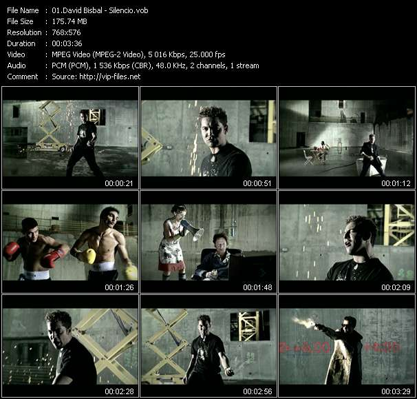 Screenshot of Music Video David Bisbal - Silencio