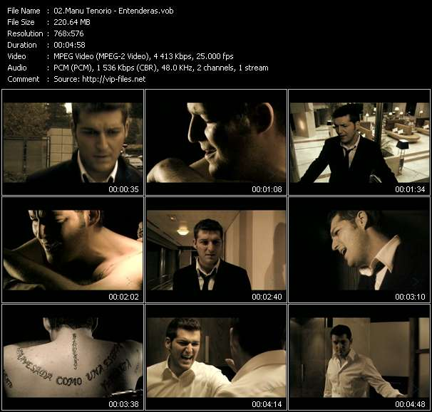 Screenshot of Music Video Manu Tenorio - Entenderas
