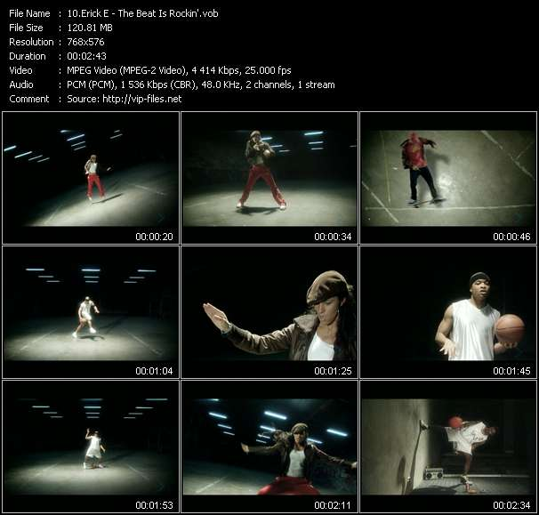 Screenshot of Music Video Erick E - The Beat Is Rockin'
