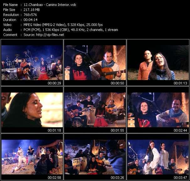 Screenshot of Music Video Chambao - Camino Interior