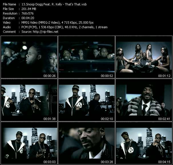 Screenshot of Music Video Snoop Dogg Feat. R. Kelly - That's That