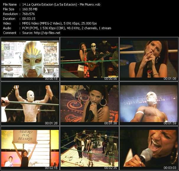 Screenshot of Music Video La Quinta Estacion (La 5a Estacion) - Me Muero