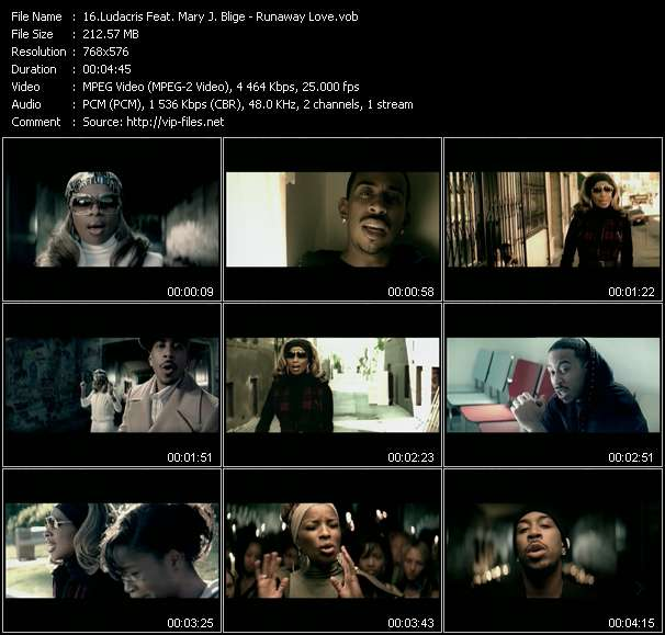 Screenshot of Music Video Ludacris Feat. Mary J. Blige - Runaway Love