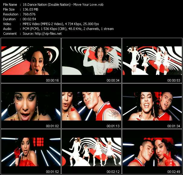 Screenshot of Music Video Dance Nation (Double Nation) - Move Your Love