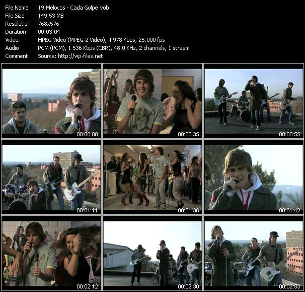 Screenshot of Music Video Melocos - Cada Golpe