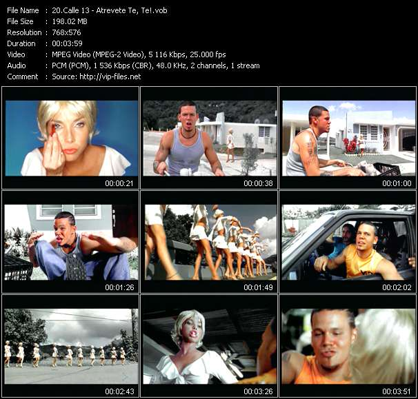 Screenshot of Music Video Calle 13 - Atrevete Te, Te!