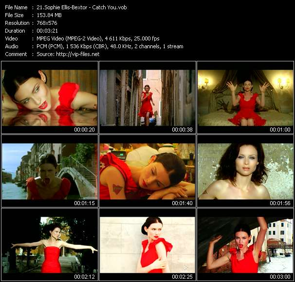 Screenshot of Music Video Sophie Ellis-Bextor - Catch You