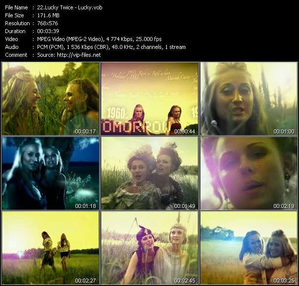 Screenshot of Music Video Lucky Twice - Lucky