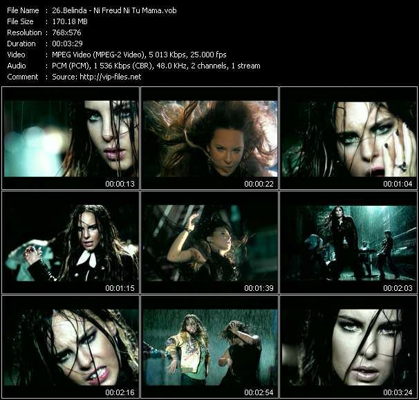 Screenshot of Music Video Belinda - Ni Freud Ni Tu Mama