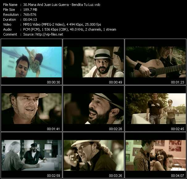 Screenshot of Music Video Mana And Juan Luis Guerra - Bendita Tu Luz