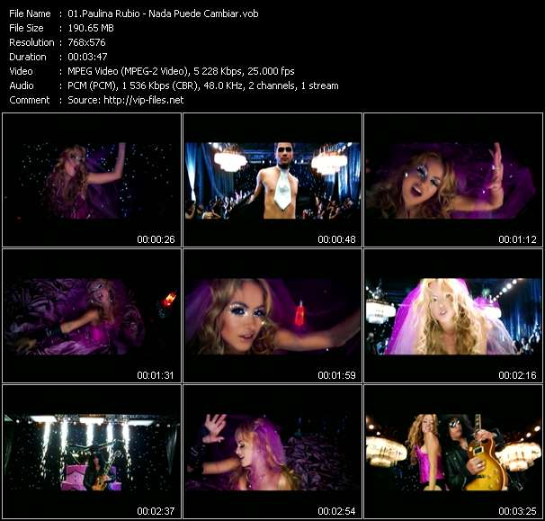 Screenshot of Music Video Paulina Rubio - Nada Puede Cambiar