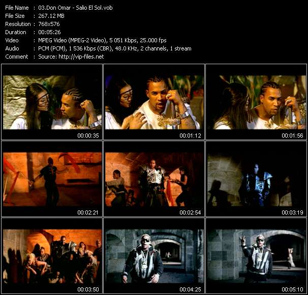 Screenshot of Music Video Don Omar - Salio El Sol