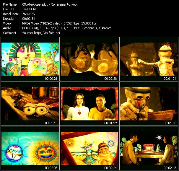 Screenshot of Music Video Aterciopelados - Complemento