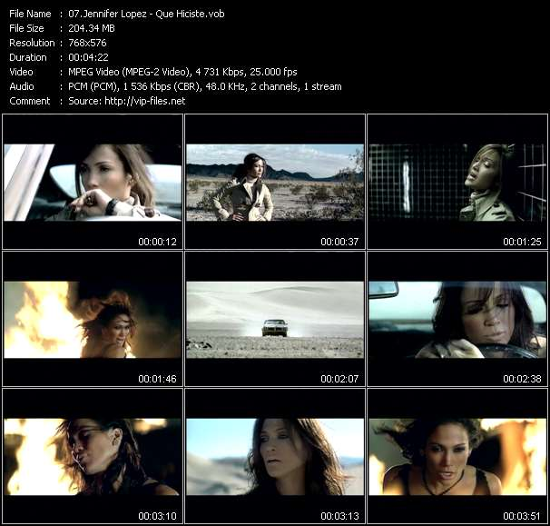 Screenshot of Music Video Jennifer Lopez - Que Hiciste