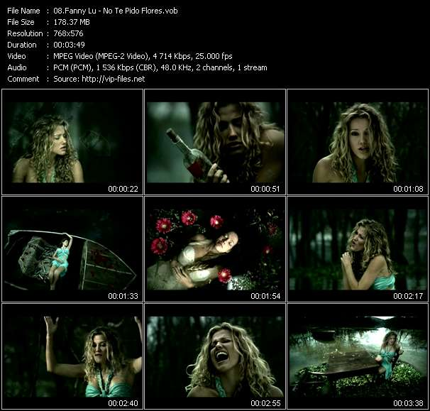 Screenshot of Music Video Fanny Lu - No Te Pido Flores