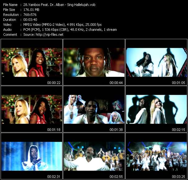 Screenshot of Music Video Yamboo Feat. Dr. Alban - Sing Hallelujah
