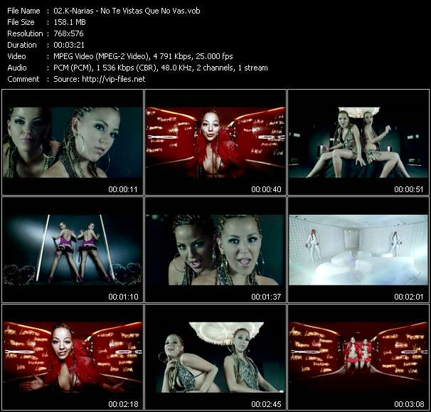 Screenshot of Music Video K-Narias - No Te Vistas Que No Vas
