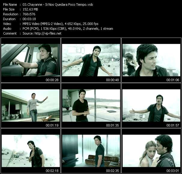 Screenshot of Music Video Chayanne - Si Nos Quedara Poco Tiempo
