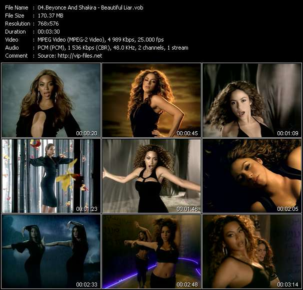 Screenshot of Music Video Beyonce And Shakira - Beautiful Liar