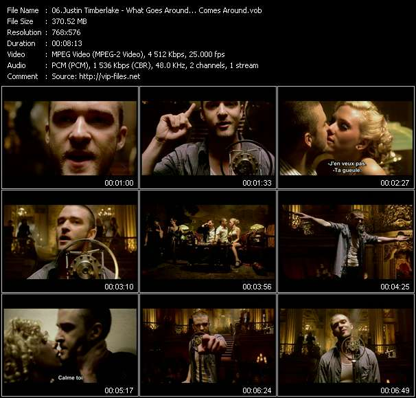 Justin Timberlake video vob
