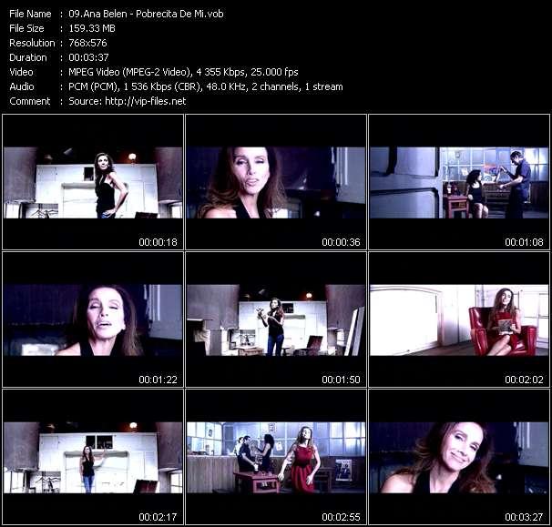 Screenshot of Music Video Ana Belen - Pobrecita De Mi