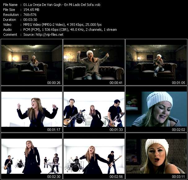 Screenshot of Music Video La Oreja De Van Gogh - En Mi Lado Del Sofa
