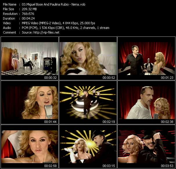Screenshot of Music Video Miguel Bose And Paulina Rubio - Nena