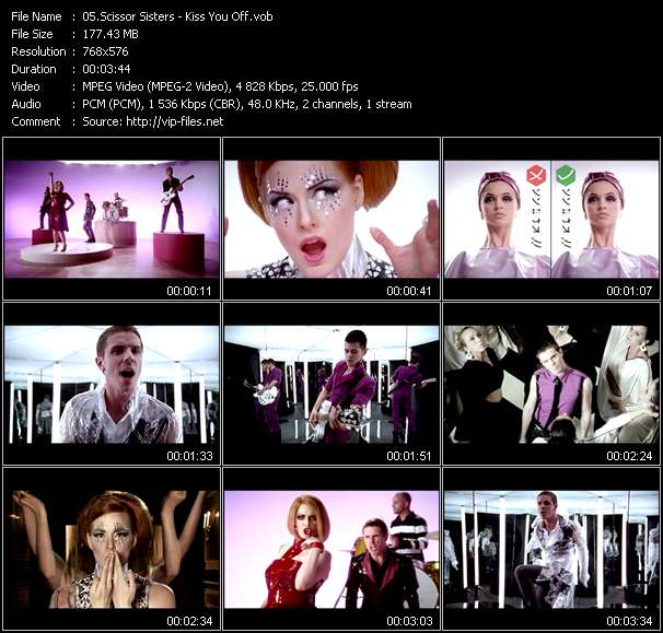 Screenshot of Music Video Scissor Sisters - Kiss You Off