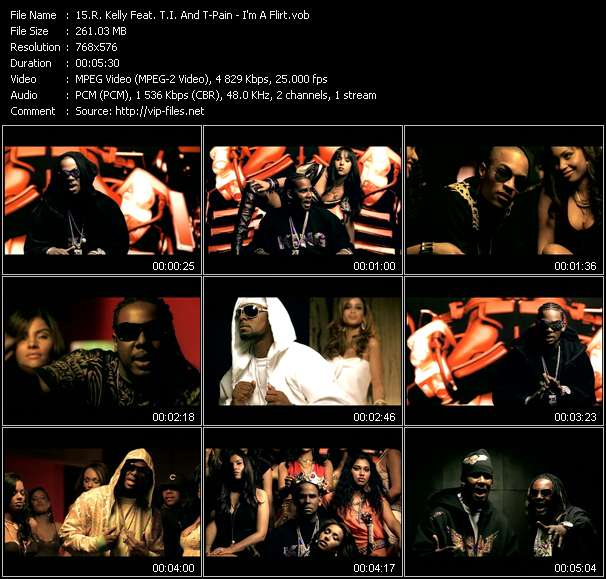 R. Kelly Feat. T.I. And T-Pain clips musicaux vob