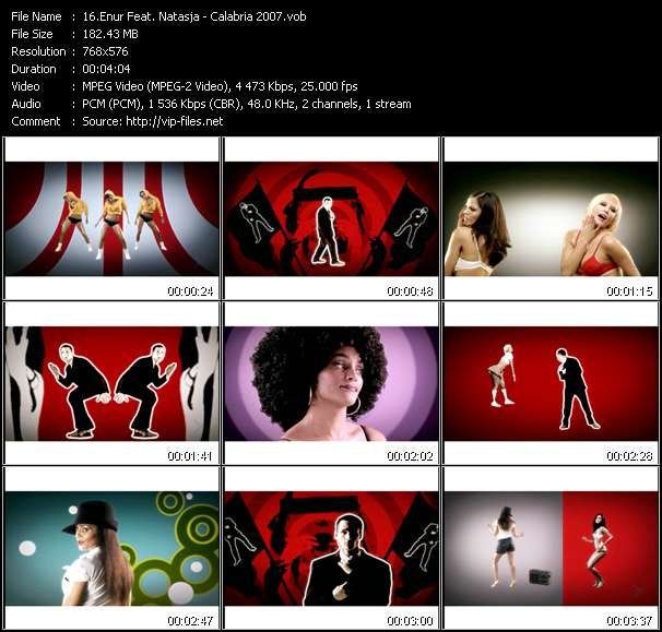 Enur Feat. Natasja clips musicaux vob