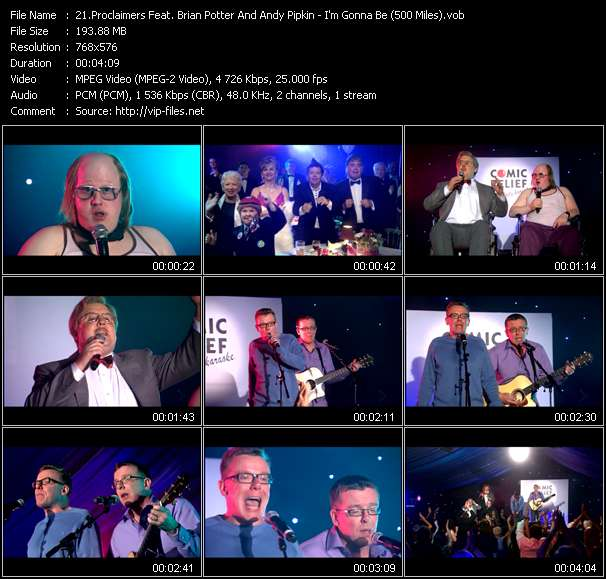 Proclaimers Feat. Brian Potter And Andy Pipkin video vob