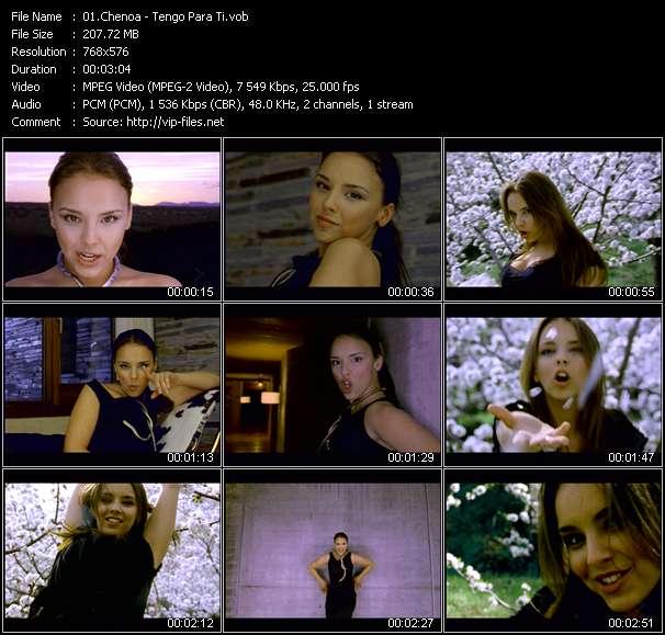 Screenshot of Music Video Chenoa - Tengo Para Ti