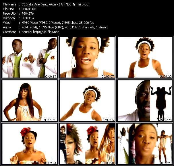 Screenshot of Music Video India.Arie Feat. Akon - I Am Not My Hair