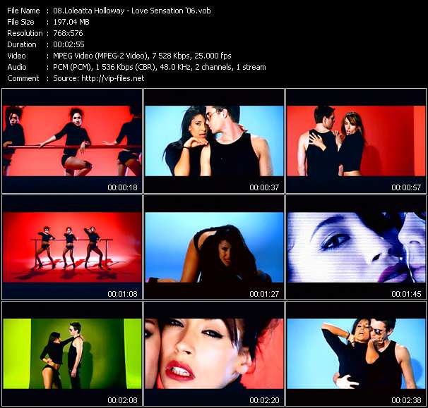 Screenshot of Music Video Loleatta Holloway - Love Sensation '06