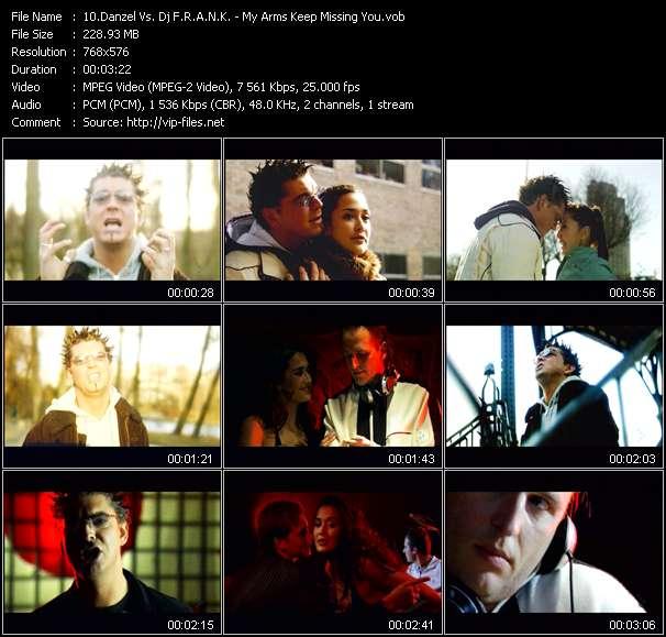 Screenshot of Music Video Danzel Vs. Dj F.R.A.N.K. - My Arms Keep Missing You