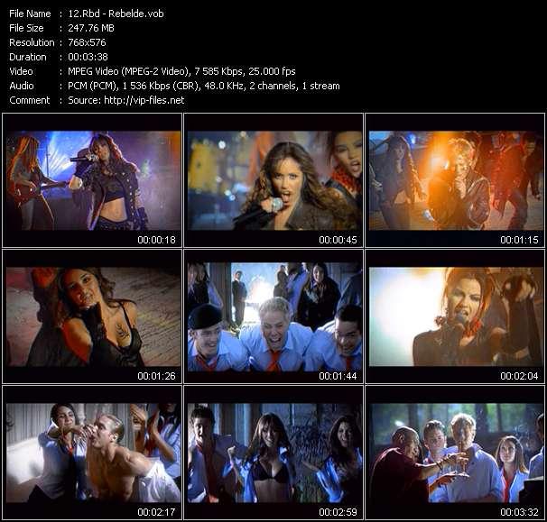 Screenshot of Music Video Rbd - Rebelde