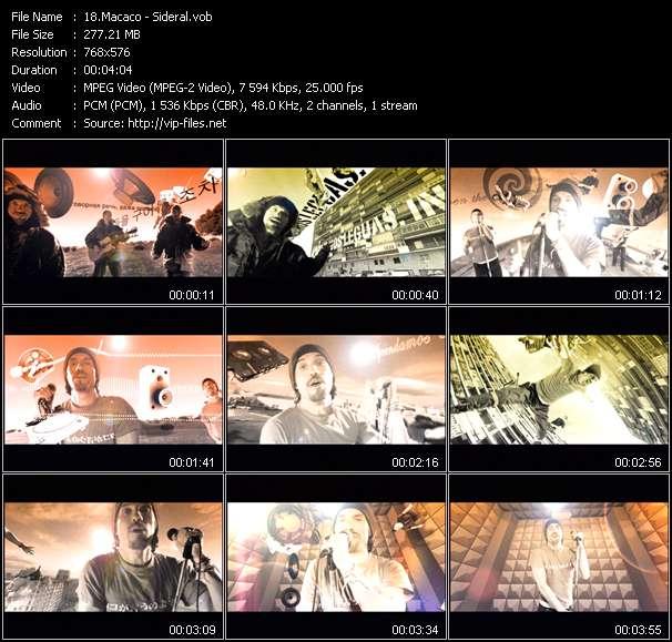 Screenshot of Music Video Macaco - Sideral