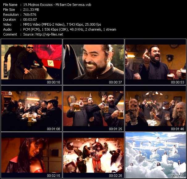Screenshot of Music Video Mojinos Escozios - Mi Barri De Servesa