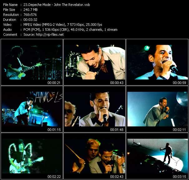 Screenshot of Music Video Depeche Mode - John The Revelator